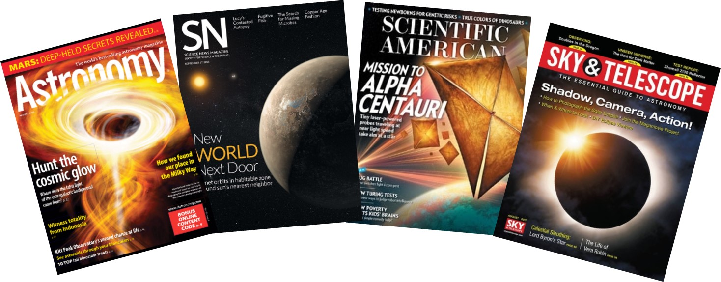 Astronomy and Science Magazines