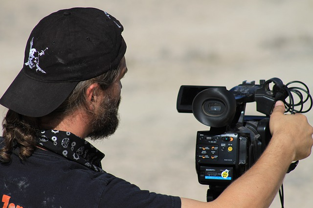 Movie Director Operating a Camera