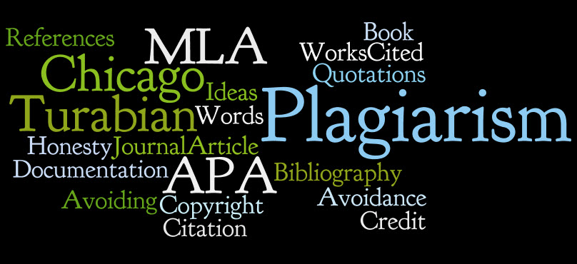 Words related to plagiarism and citation