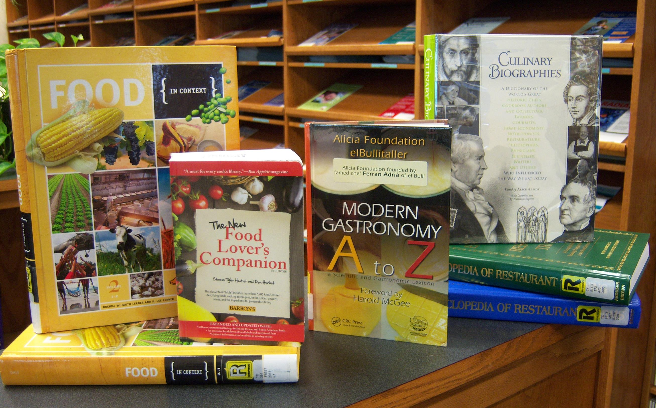 Culinary Referene Books in the Library