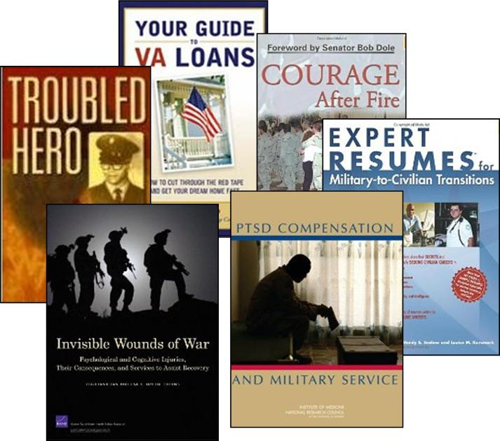 Collage of Veterans Books