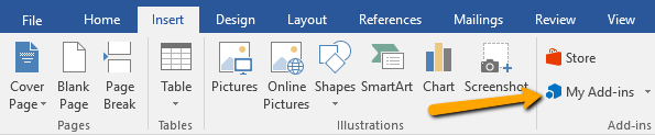 my add-ins ms word screenshot