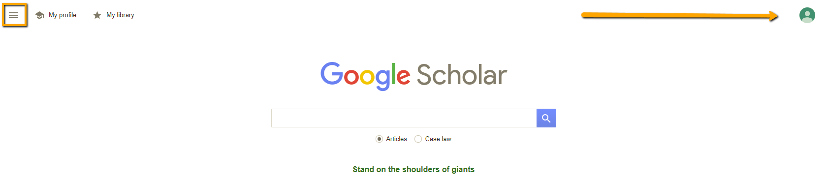 google scholar login to google account