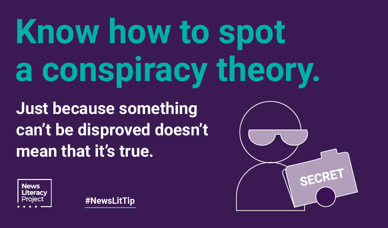 Know how to spot a conspiracy theory
