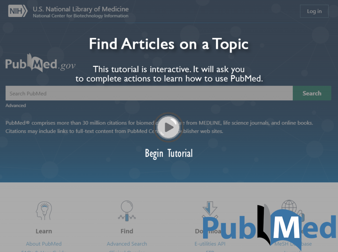 PubMed how to find articles on a topic