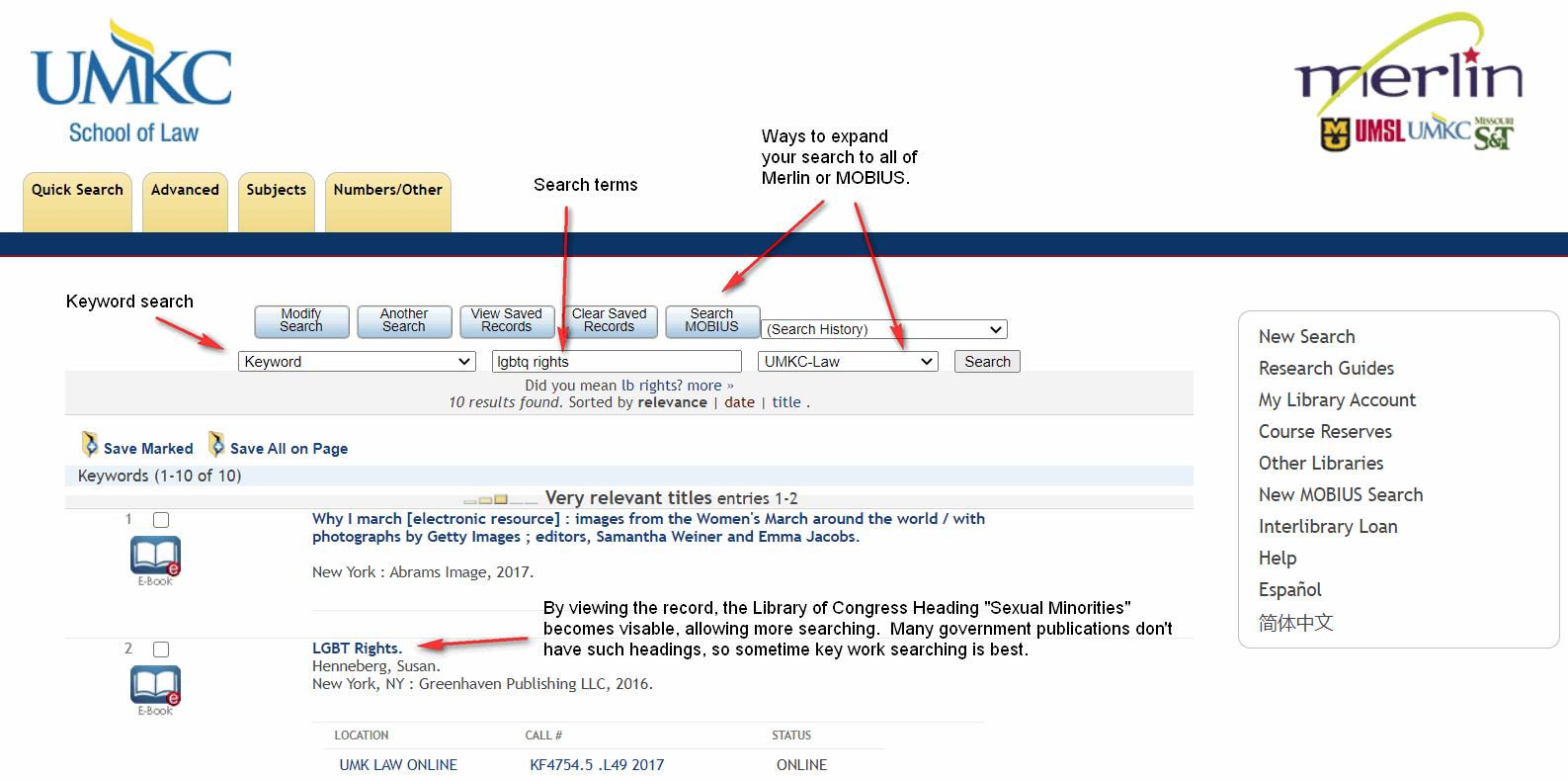 Keyword search for lgbtq rights