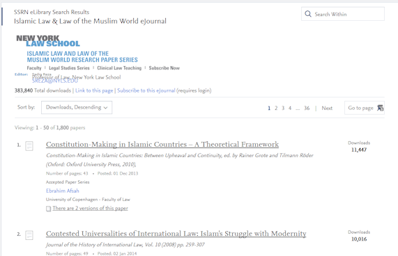SSRN Islamic Law Papers