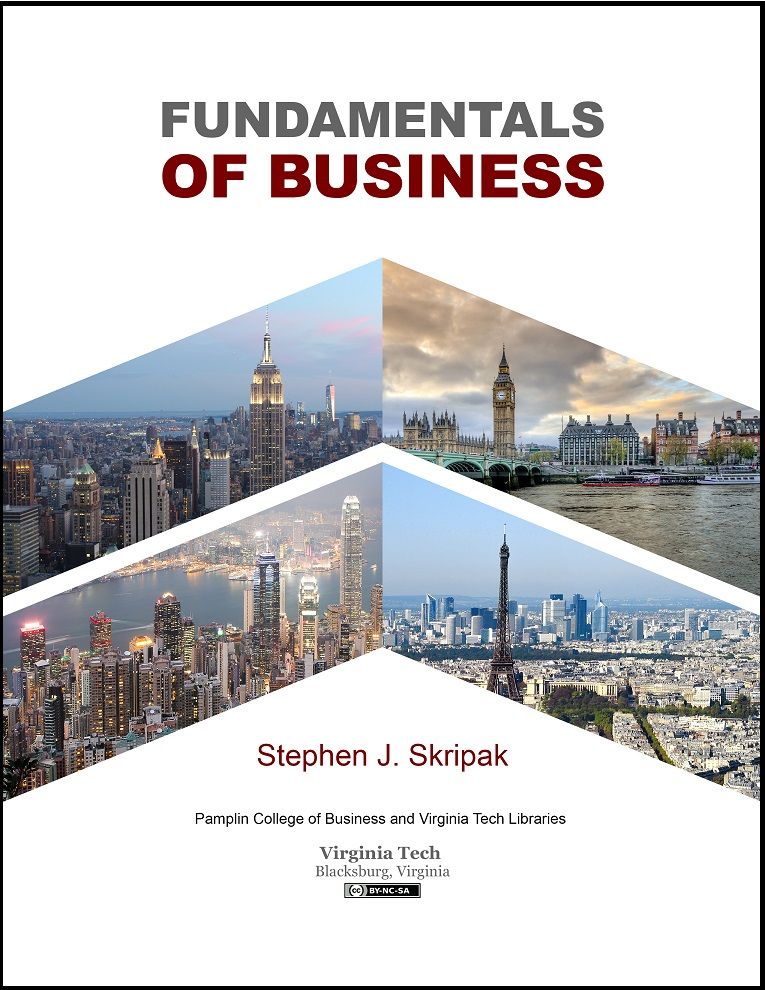 Cover of Fundamentals of Business, 1st edition