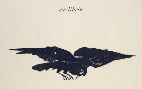 19th century lithograph of Raven