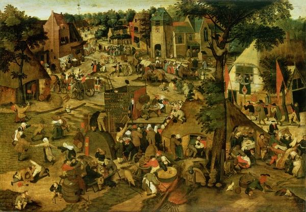 Fair with Theatrical Presentation by Pieter Brueghel the Younger
