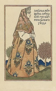 Russian woman by Ivan Bilibin