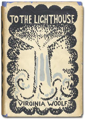 Dust jacket from the first edition of To the Lighthouse