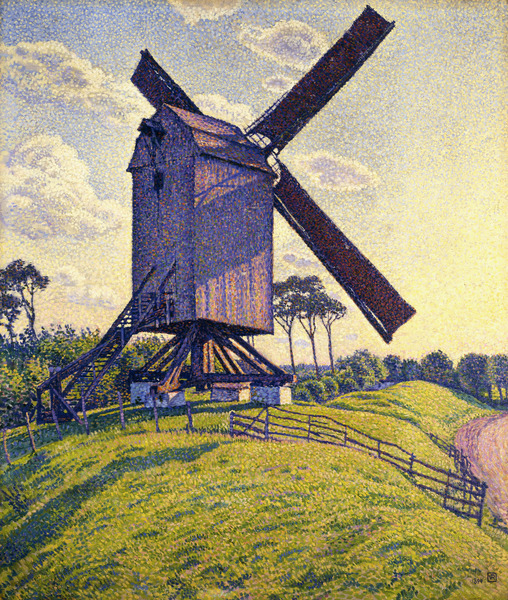 Windmill in Flanders. Oil painting, 1894.