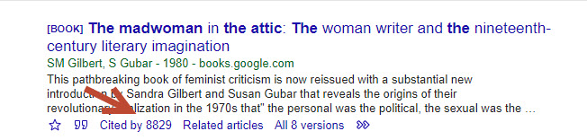 Google scholar the mad woman in the attic