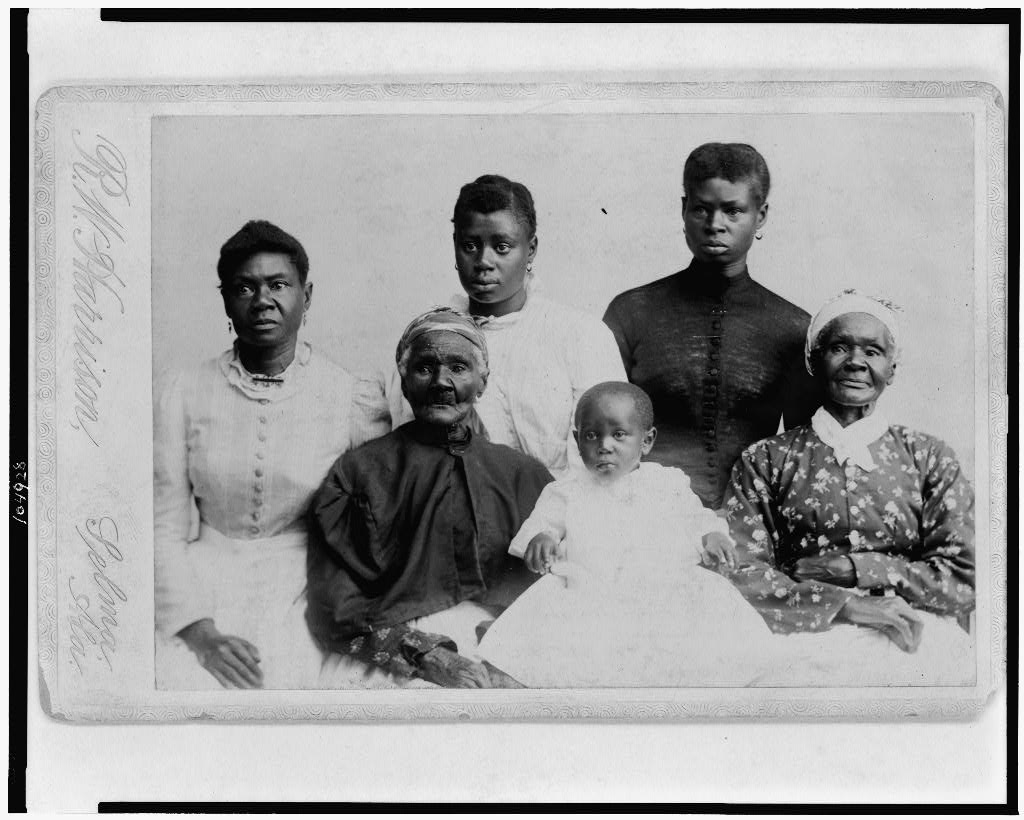 Six generations of an African-American family.