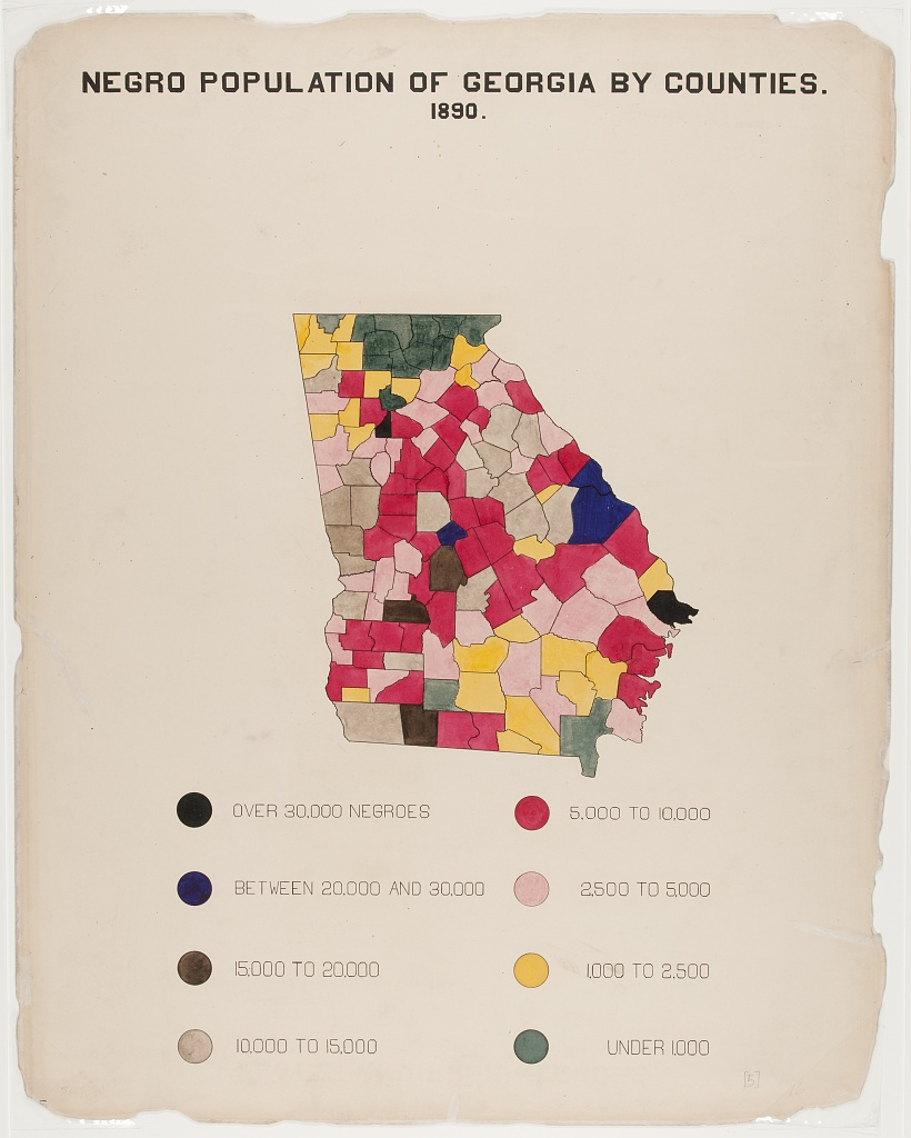 Negro population of Georgia by counties. 1890.