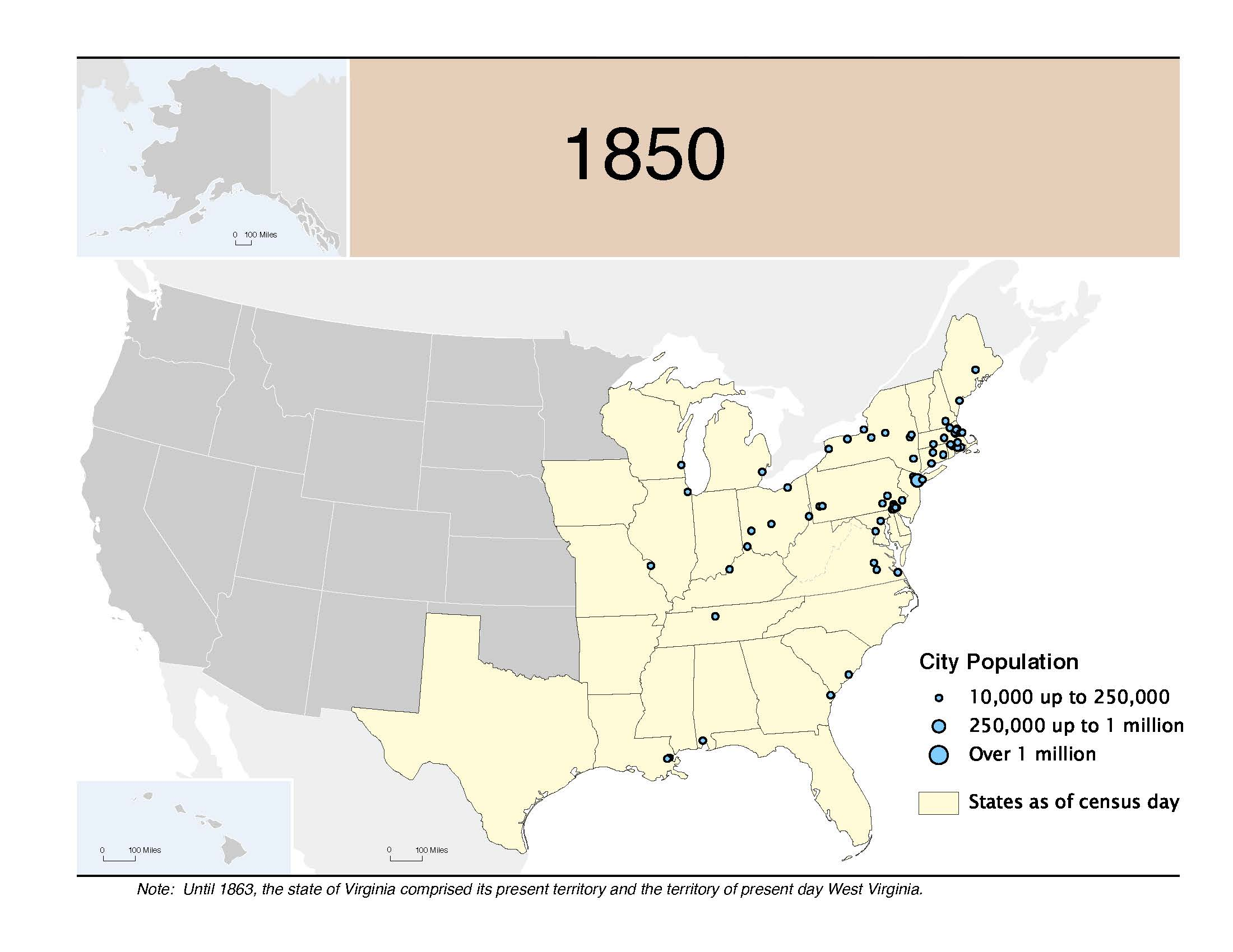 map city population 1850