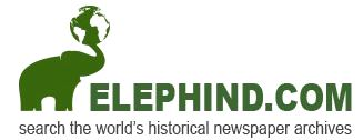 Elephind logo showing a green elephant holding a globe at the end of its trunk