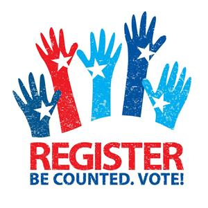 REGISTER - Be Counted. Vote!