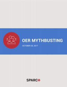 OER Mythbusting Book Cover
