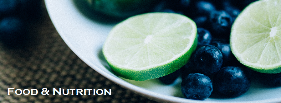 Food & Nutrition (limes and blueberries on a white plate)