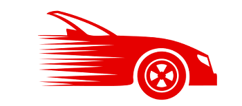 Red drawing of a car
