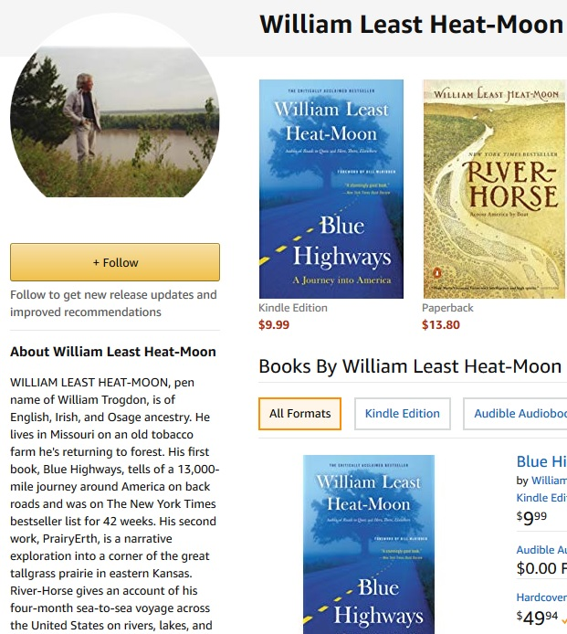Amazon author page example