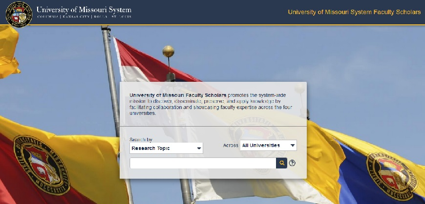 Image of UM faculty scholars logon page