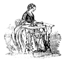 Lady at sewing machine, 1859
