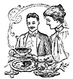 Having coffee in 1900