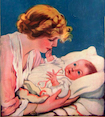 1920 mother and baby on cover of Modern Priscilla magazine, Jan 1920