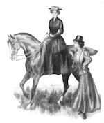 Saddle horse image from 1908 Macy's Catalog, p. 214