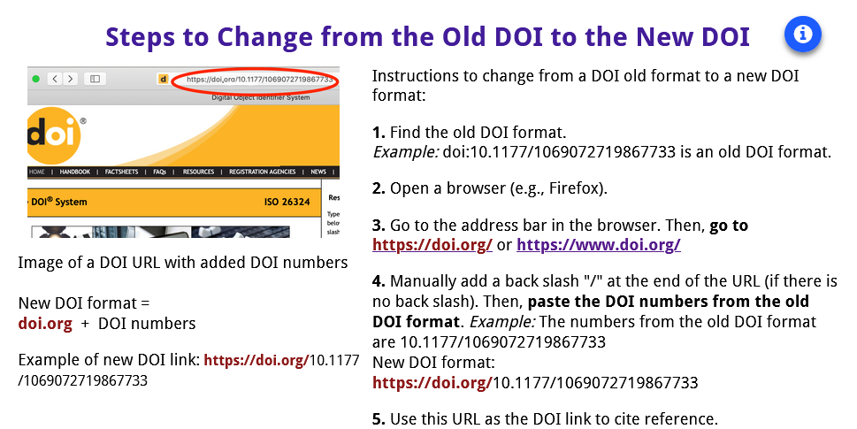 How to change from the old format to the new format