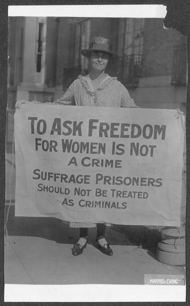 Image depicts the convergence of History, Political Science (suffrage), Criminology, and Women and Gender Studies.
