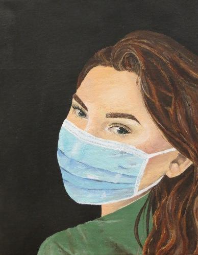 Girl smiling in mask!