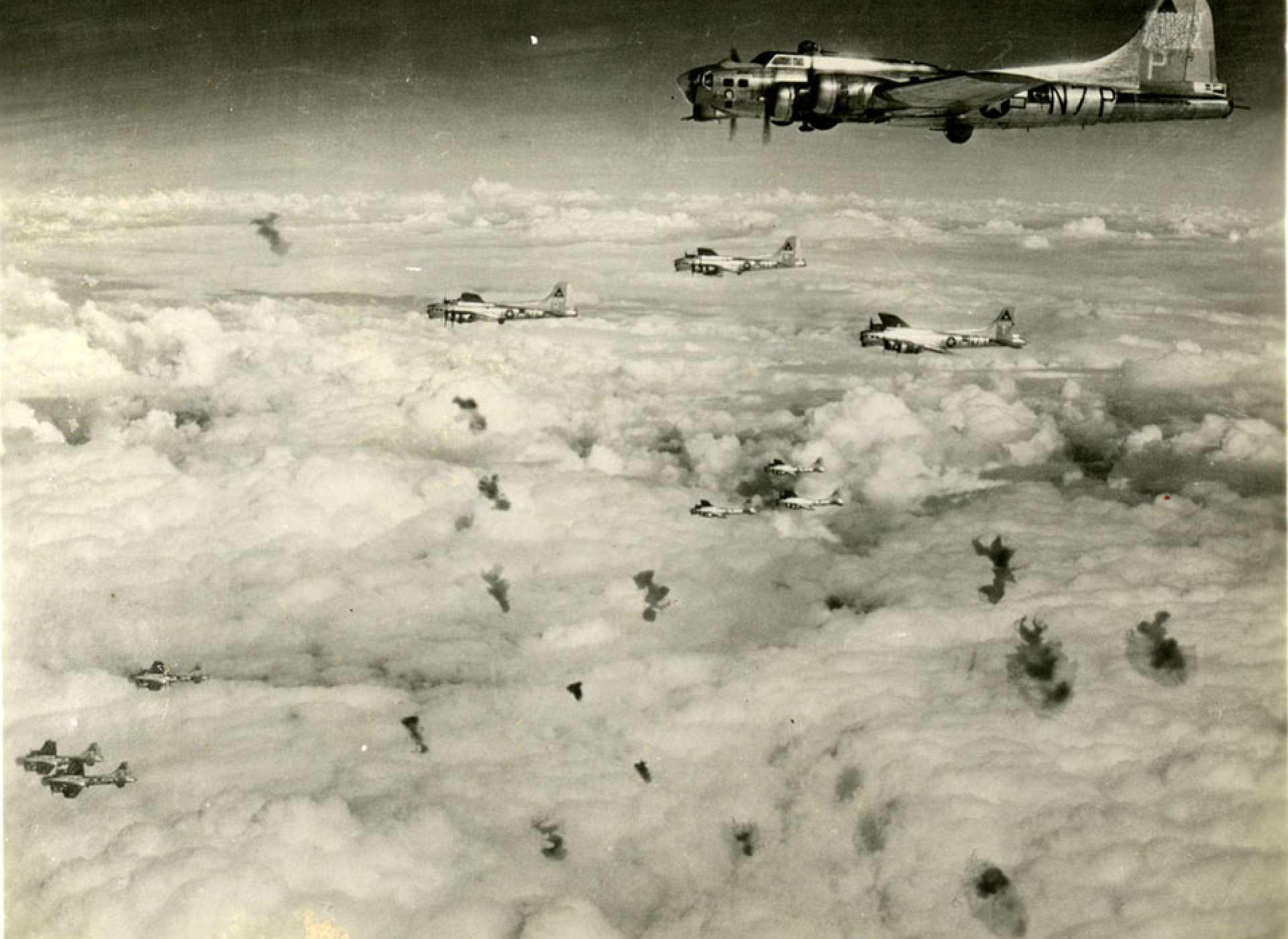 B-17s taking flak - 1944-45