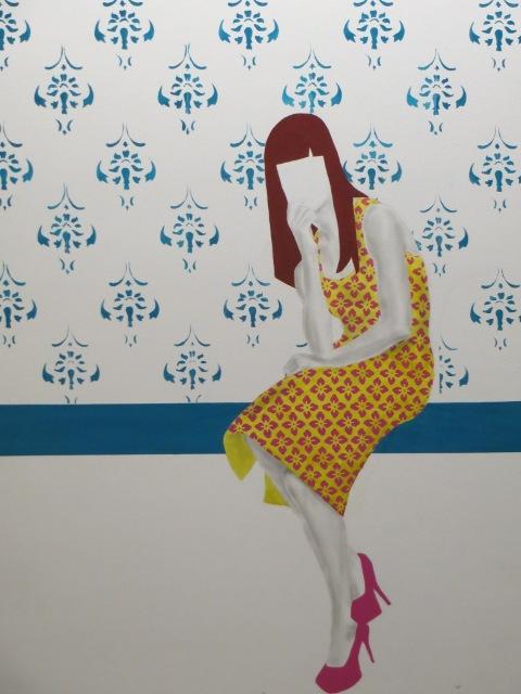 Untitled, Dahl, 2009  girl sitting on wall
