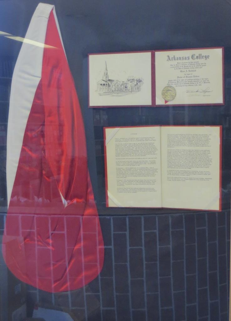 Glen Railsback, Citation and stole, 1980
