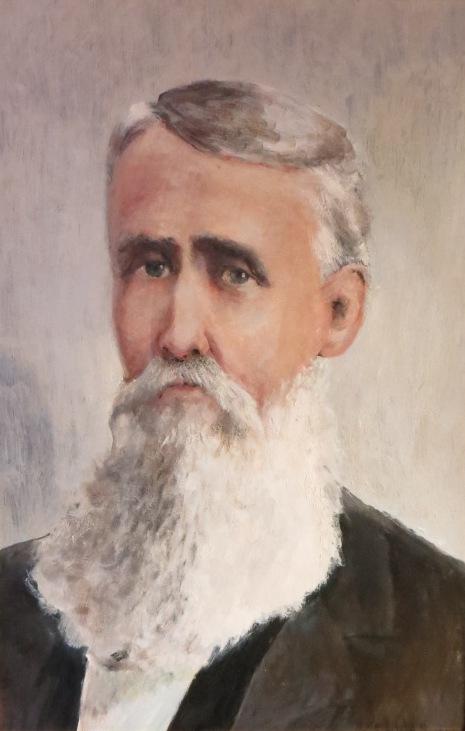 President Isaac J. Long, Founding President, Oil portrait  Sydenstricker Room