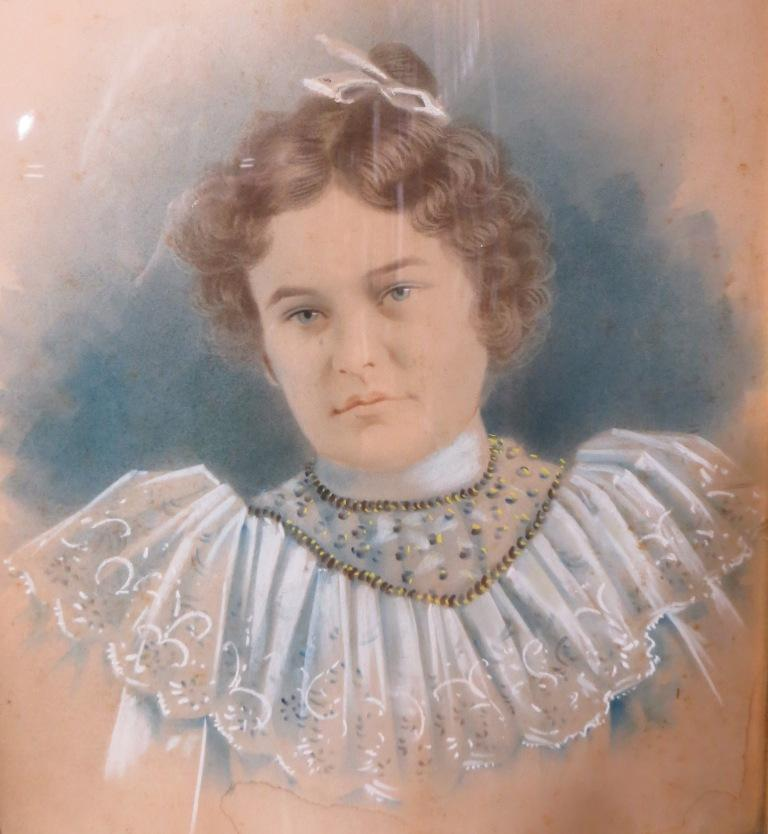 Lucy Fitzhugh Maxfield, portrait, photo with color tint 1881-1965, Sydenstricker Room