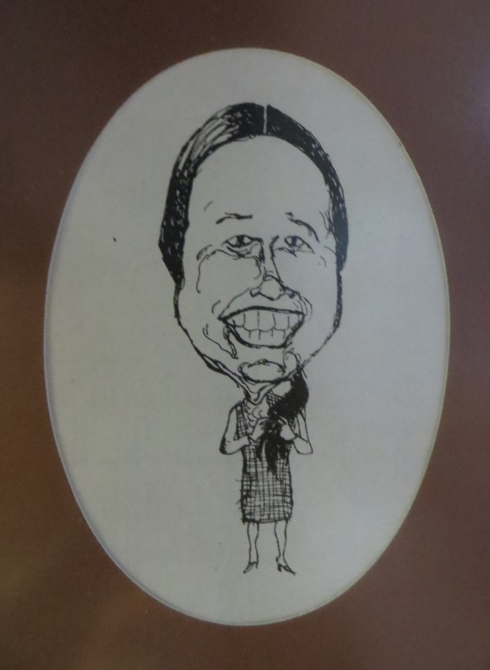 Caricature of Dr. Jane Fagg, Wood, 1972
