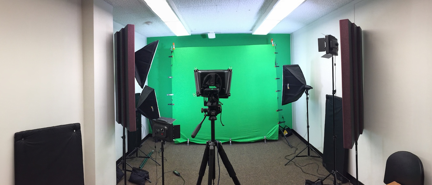 Green screen and light set up in DML