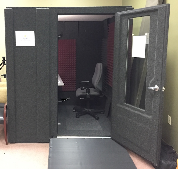 sound booth from outside