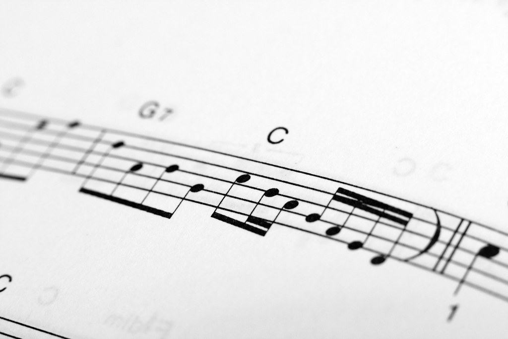 """""""C scale notation over musical staff"""" by Horia Varlan"""