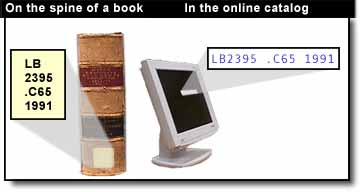 spine of book vs online catalog