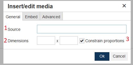 insert edit media general tab