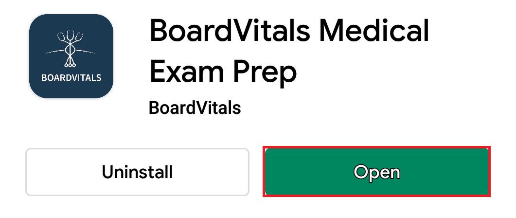 opening board vitals app