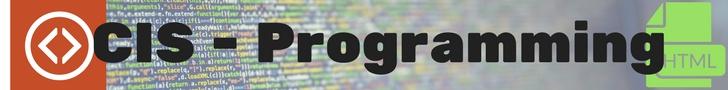 programming symbol, cis-programming text, html icon