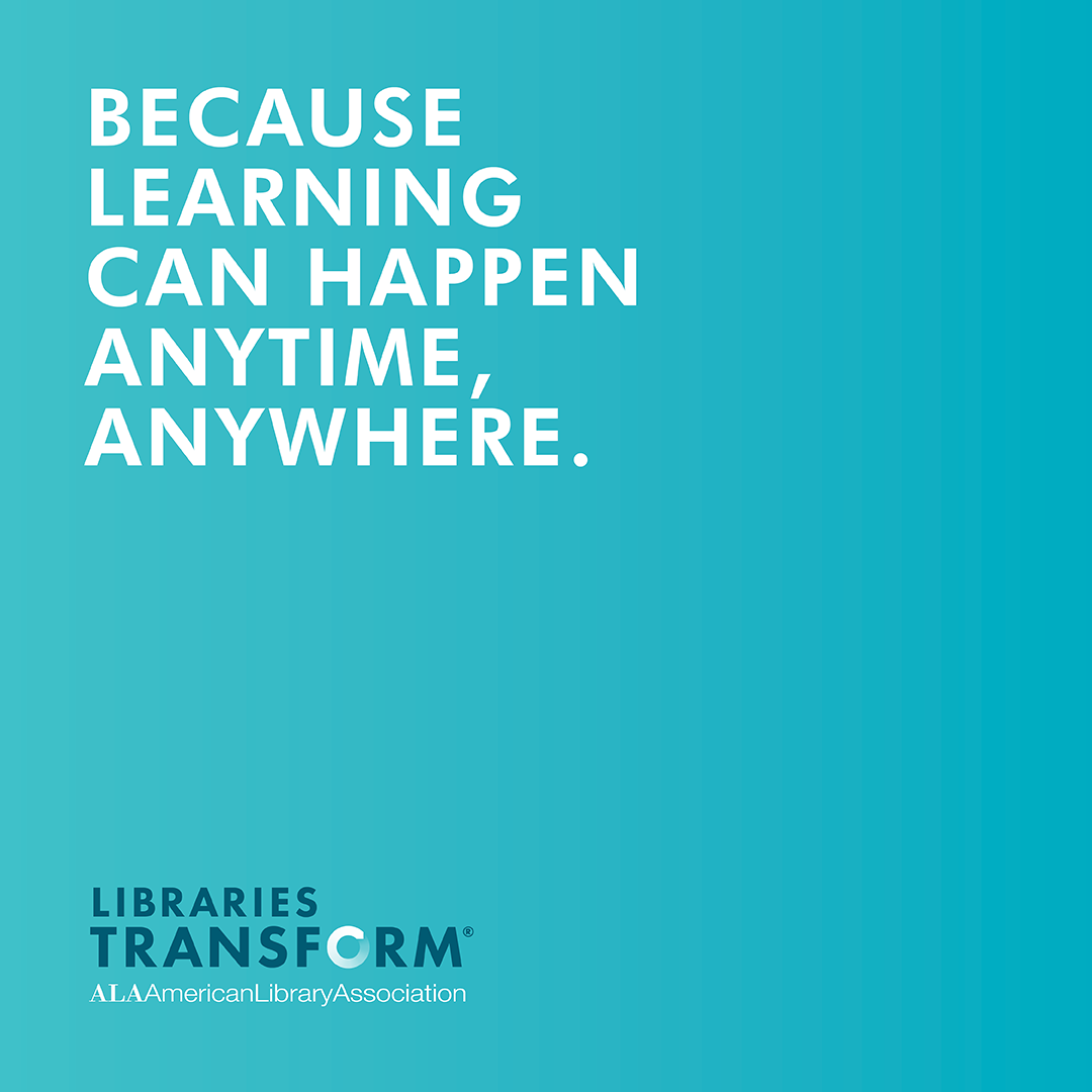 because learning can happen anytime, anywhere