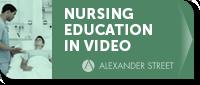 nursing education in video - alexander street - button